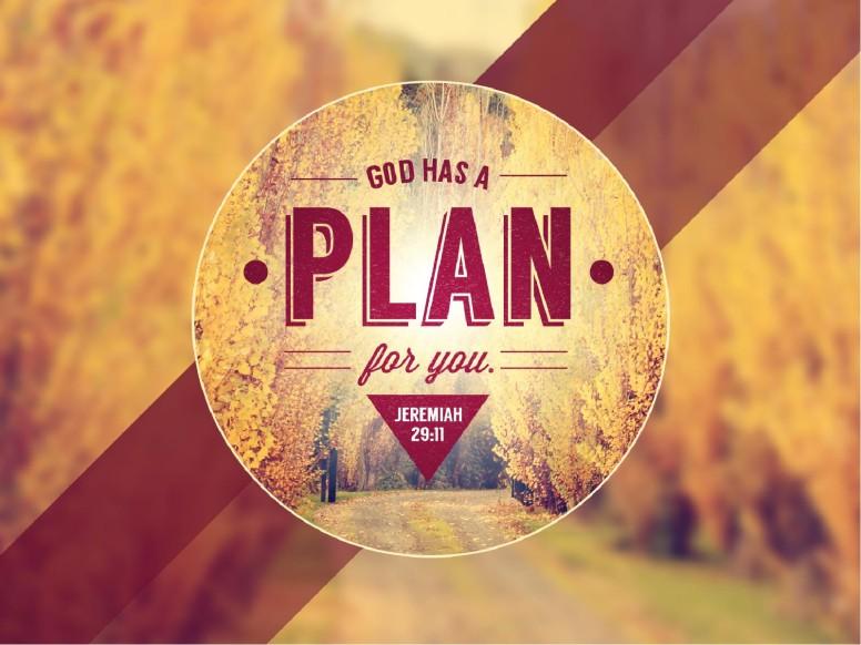 god has a plan church bulletin cover