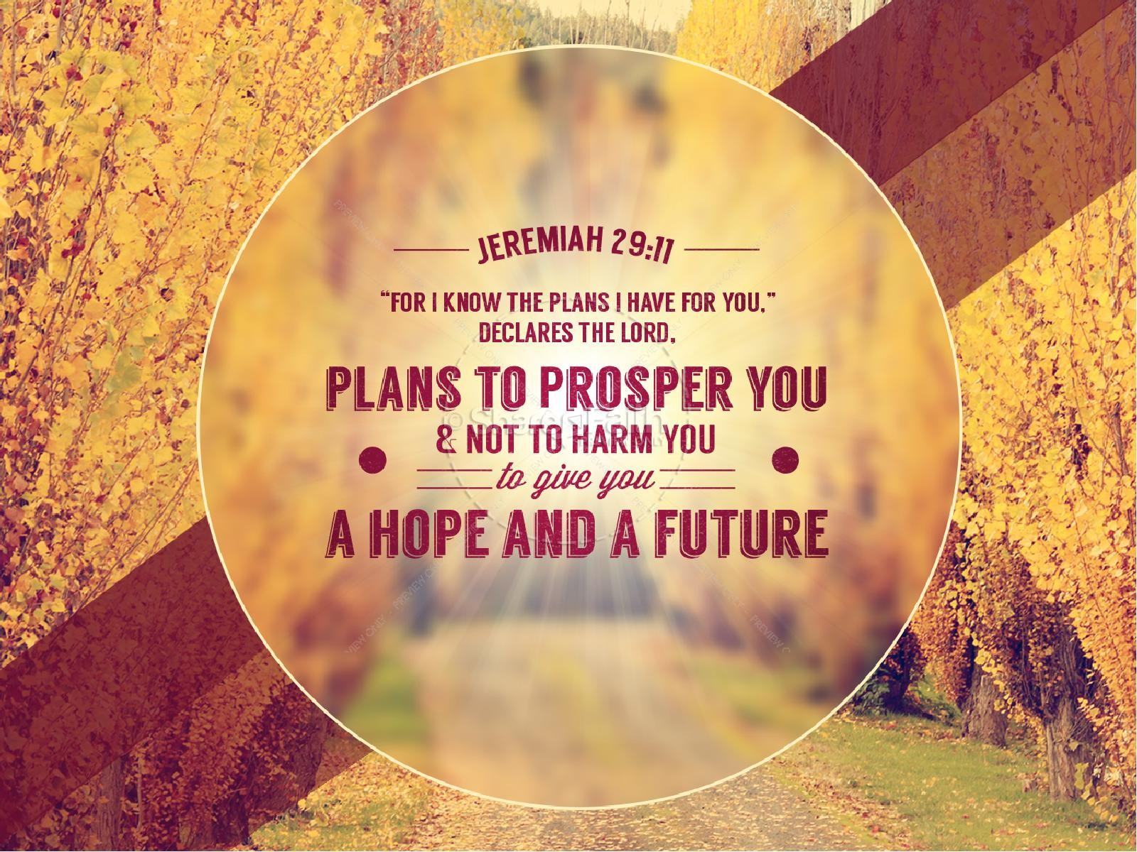 God Has a Plan Pastor PowerPoint