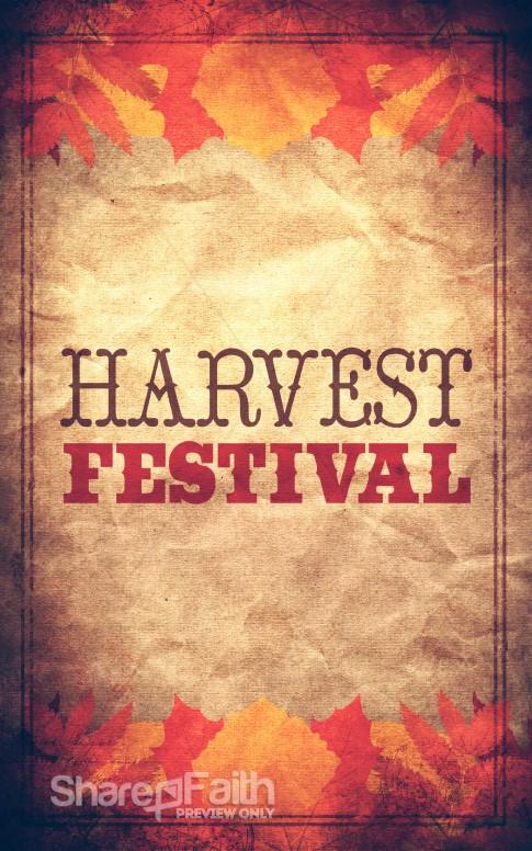 Harvest Festival Bulletin Cover
