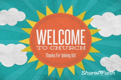 Welcome to Church Sunshine Video Loop
