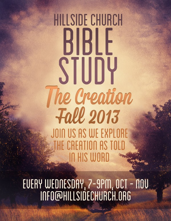 Creation Bible Study Flyer Template