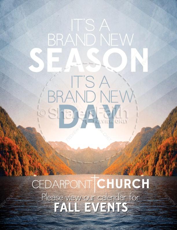 new season flyer template for church template flyer