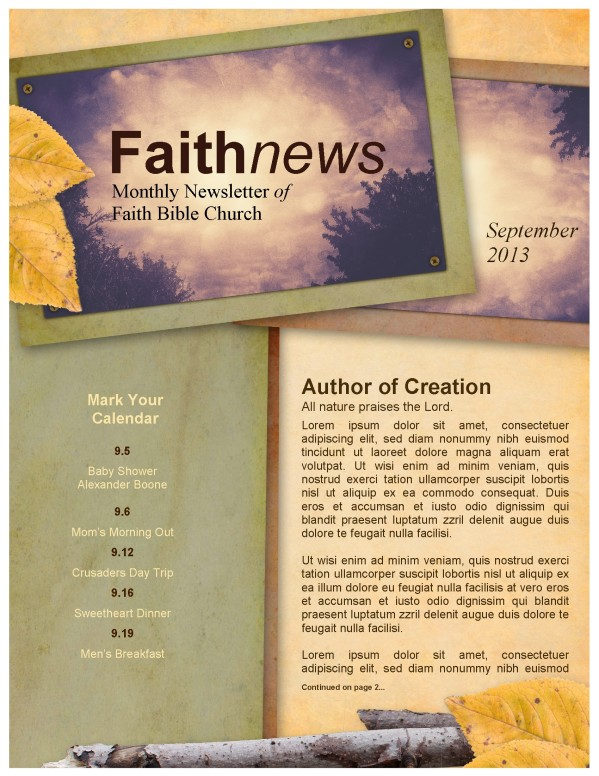 He Gives Wisdom Church Newsletter