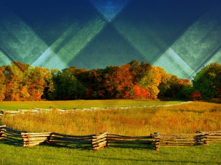 Triangle Country Scene Christian Background