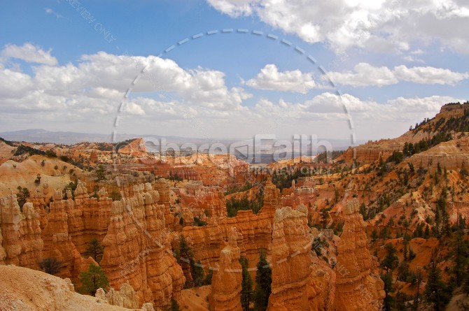 Breathtaking Cliffs Religious Stock Photo