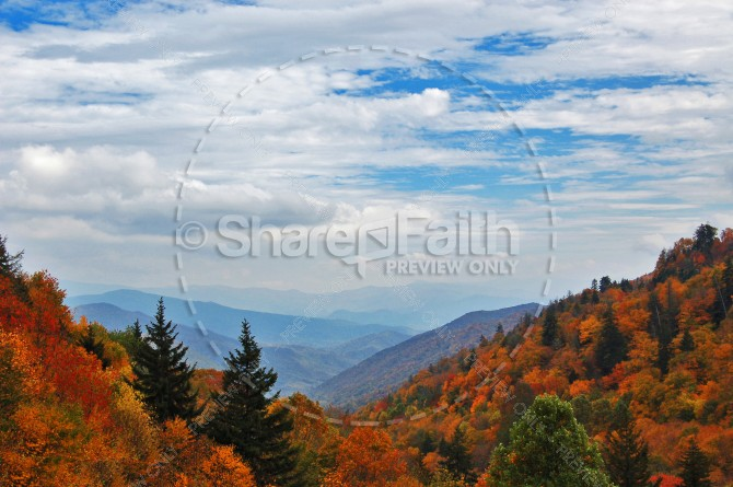 Mountians in Autumn Christian Stock Photo