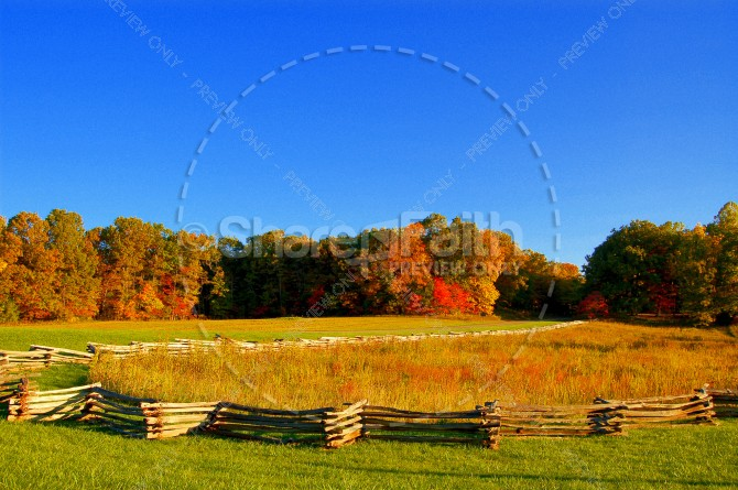 Goldern Fields in Fall Ministry Stock Photo
