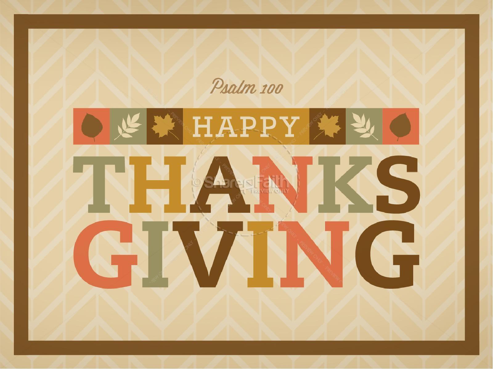 Psalm 100 Thanksgiving Church PowerPoint   slide 1