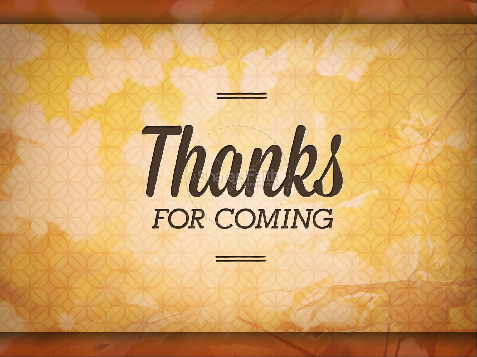 Pastor Appreciation Day Christian PowerPoint | Fall Thanksgiving ...