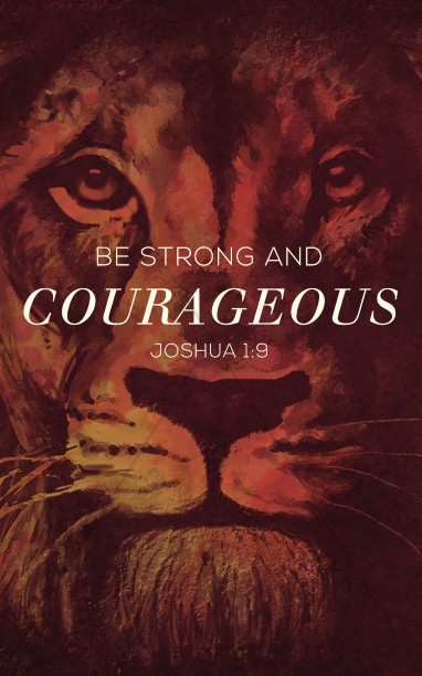Be Strong and Courageous Ministry Bulletin Cover