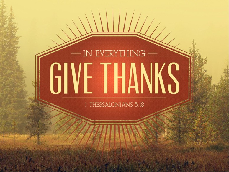 In Everything Give Thanks Sermon Thanksgiving PowerPoint