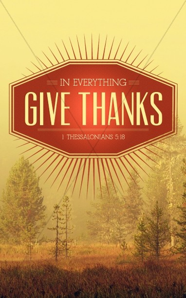 Give Thanks In Everything Church Bulletin Cover