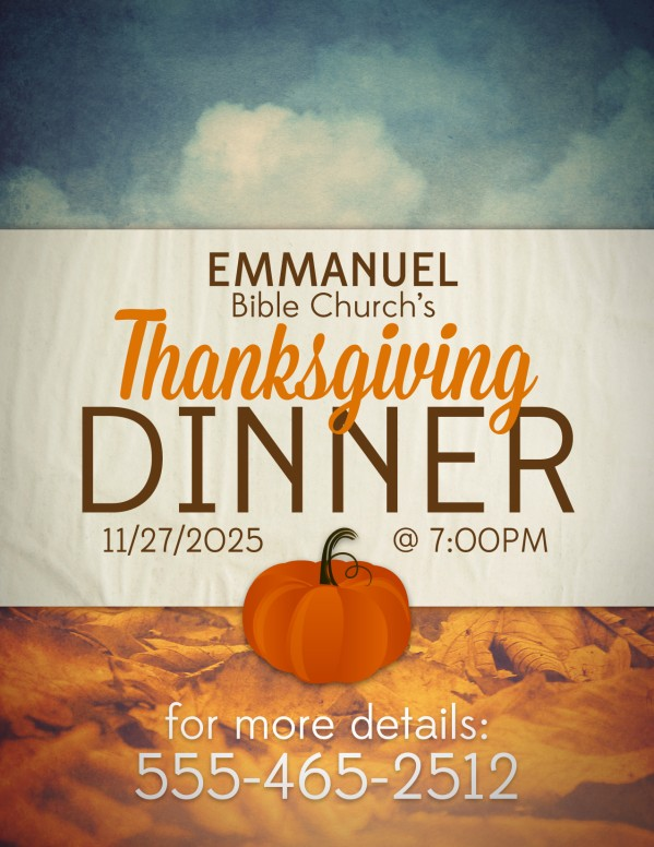 Thanksgiving Dinner Religious Flyer
