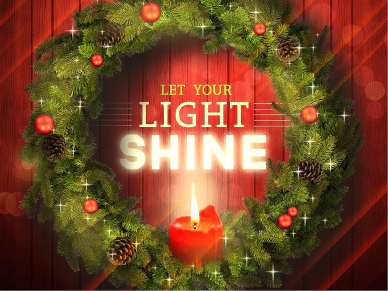 Let Your Light Shine Christmas Religious PowerPoint