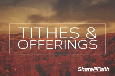 God the Strength Tithes and Offerings Christian Video Loop