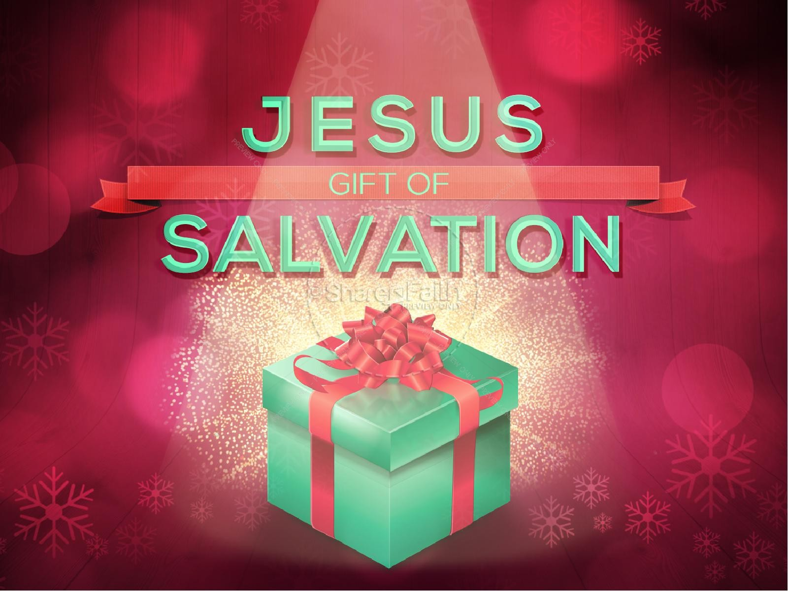 Jesus Gift of Salvation Ministry PowerPoint