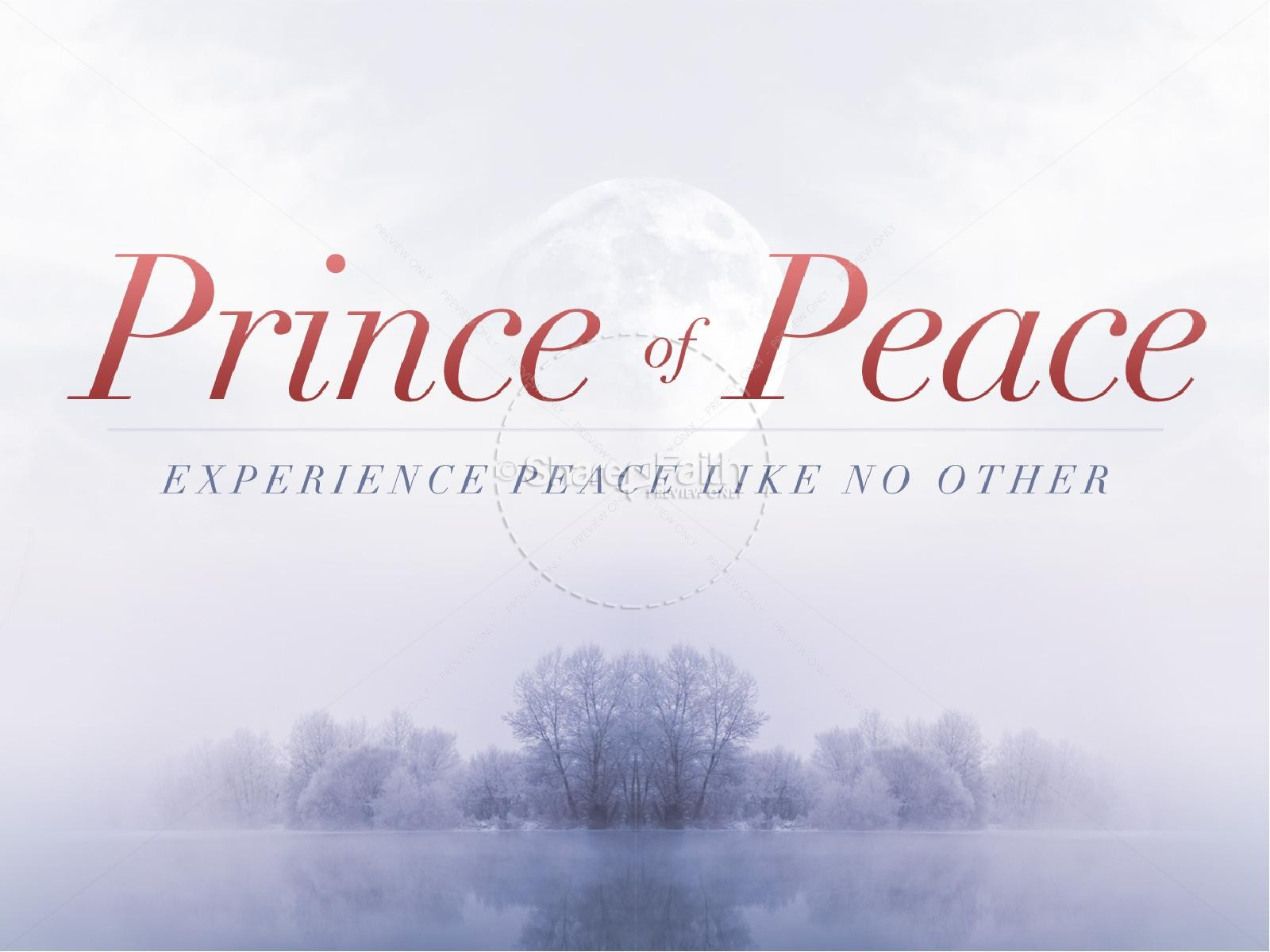 Prince of Peace Christmas Sermon PowerPoint | slide 1