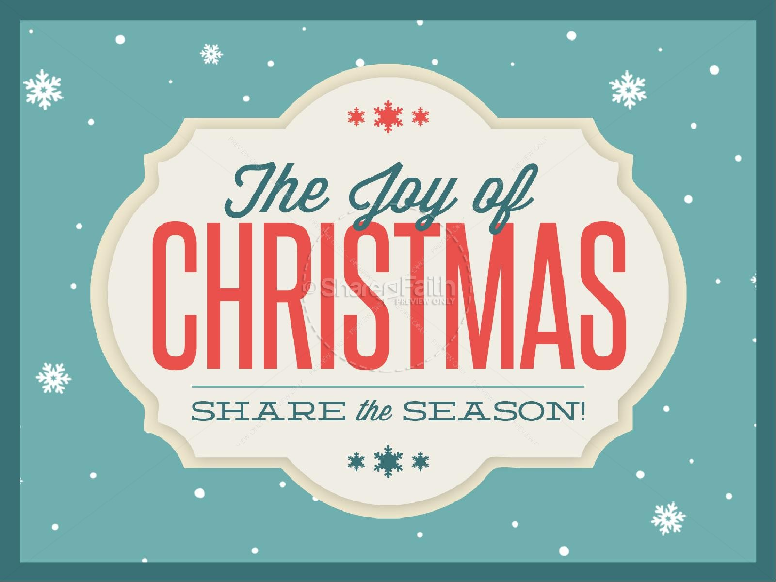 The Joy of Christmas Ministry PowerPoint