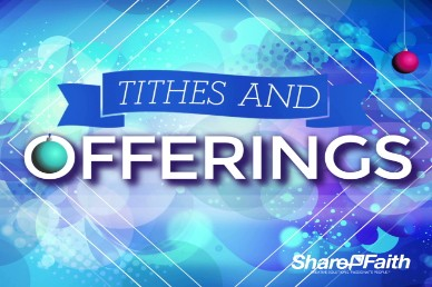 Share the Christmas Joy Religious Tithes and Offerings Video Loop