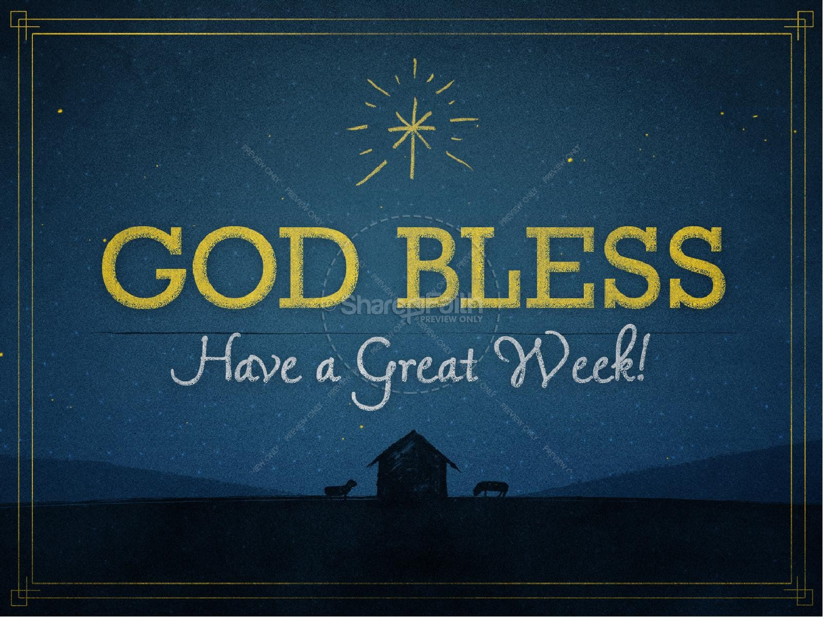 God's Gift to Us Christmas PowerPoint Template | slide 4