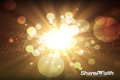 Abstract Christmas Light Worship Video Loop