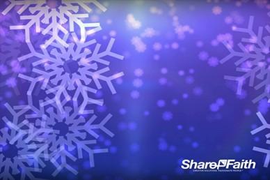 Big Christmas Snowflakes Worship Video Background