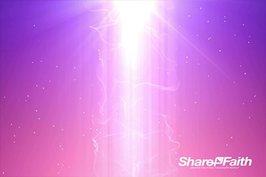 Magic Light Column Worship Video Loop