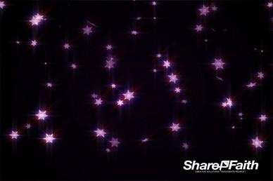 Purple Snow Falling Worship Video Loop