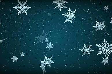 Blue Blizzard Snow Falling Worship Video Loop