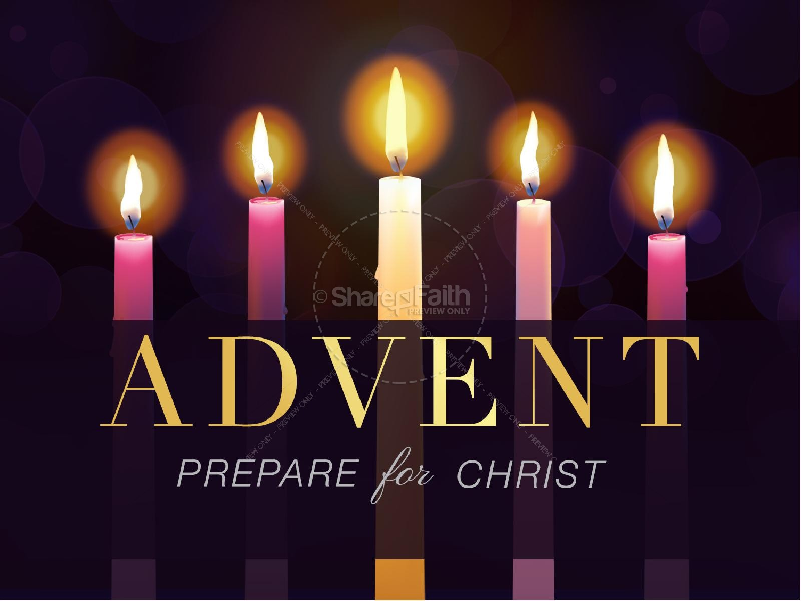 advent prepare for christ christmas powerpoint christmas powerpoints. Black Bedroom Furniture Sets. Home Design Ideas
