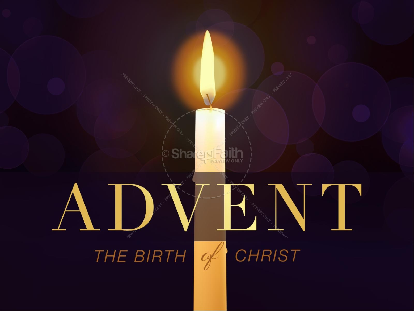 Advent Prepare for Christ Christmas PowerPoint
