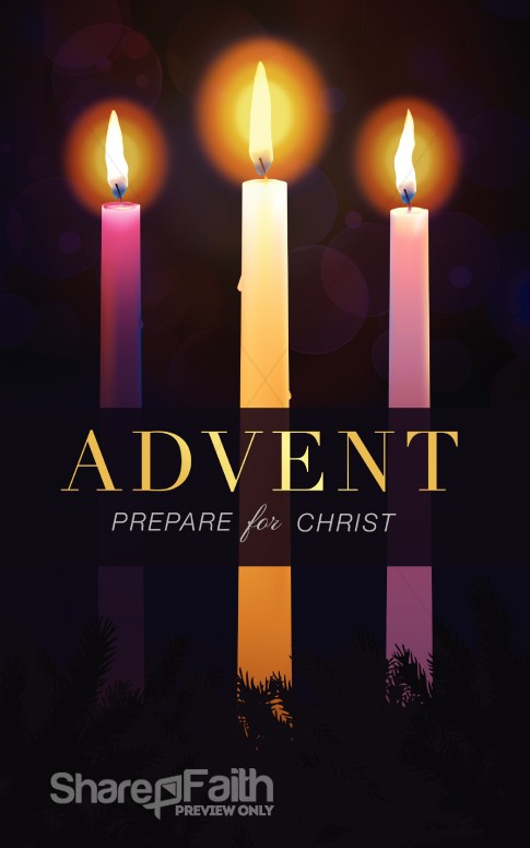 advent prepare for christ christmas bulletin