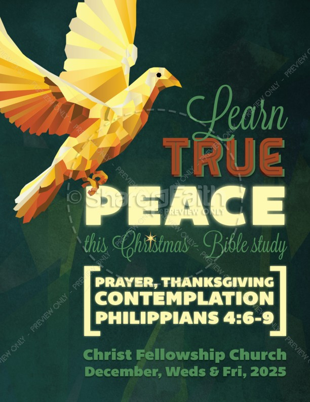 Experience True Peace Christmas Flyer
