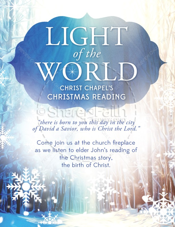 Light of the World Christmas Flyer
