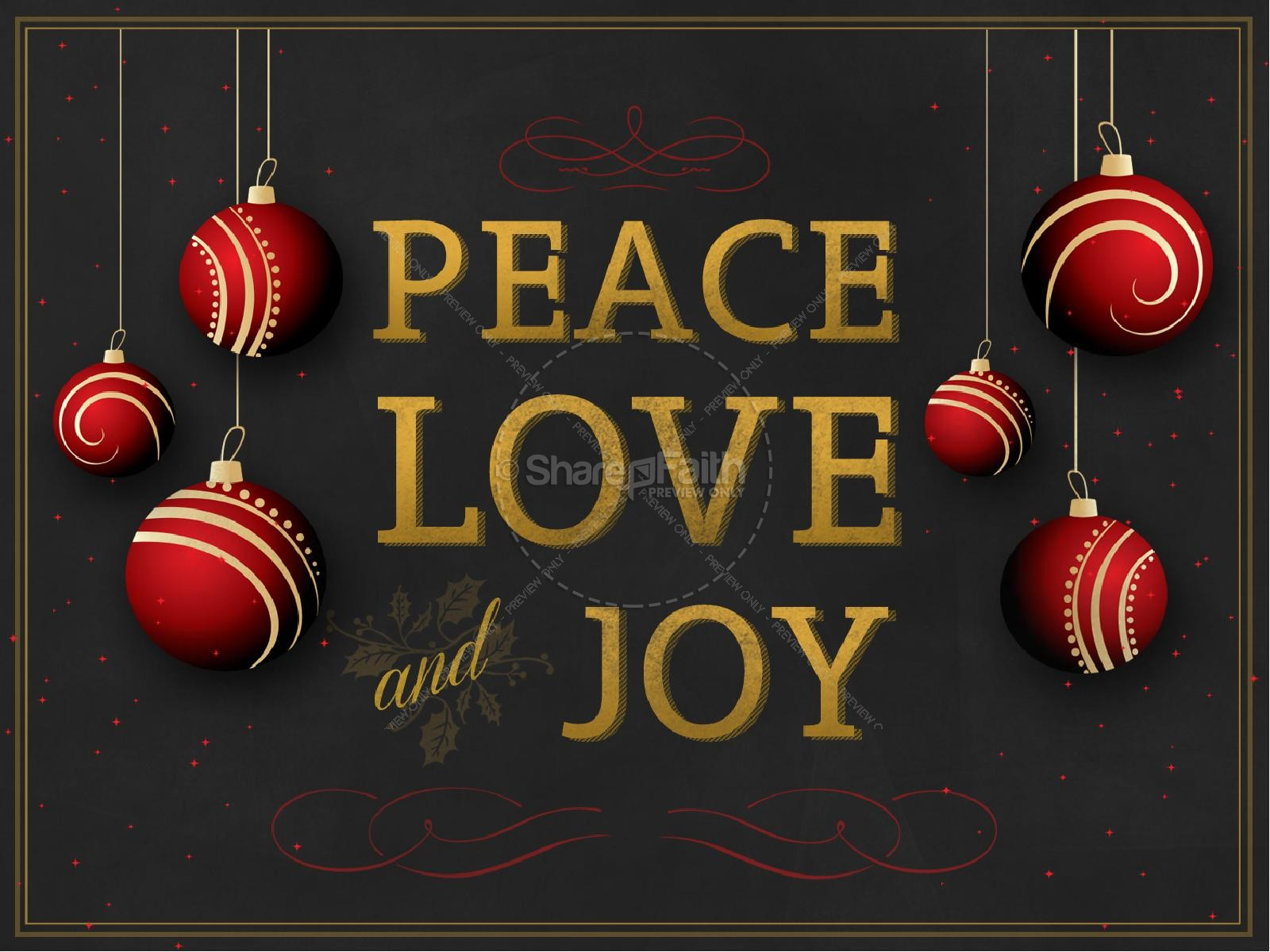 Peace Love and Joy Christmas PowerPoint