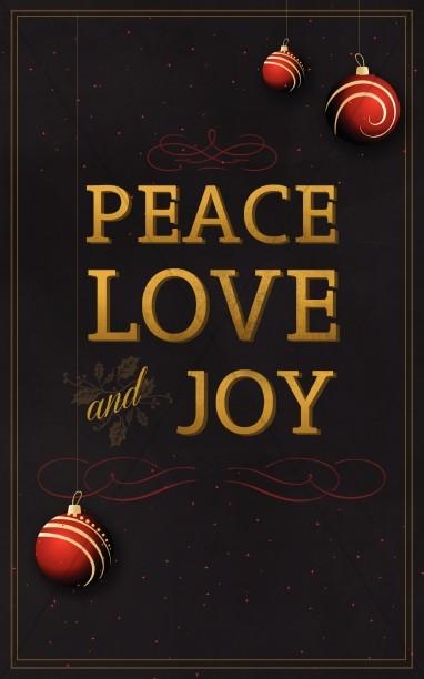 Peace Love and Joy Christmas Bulletin