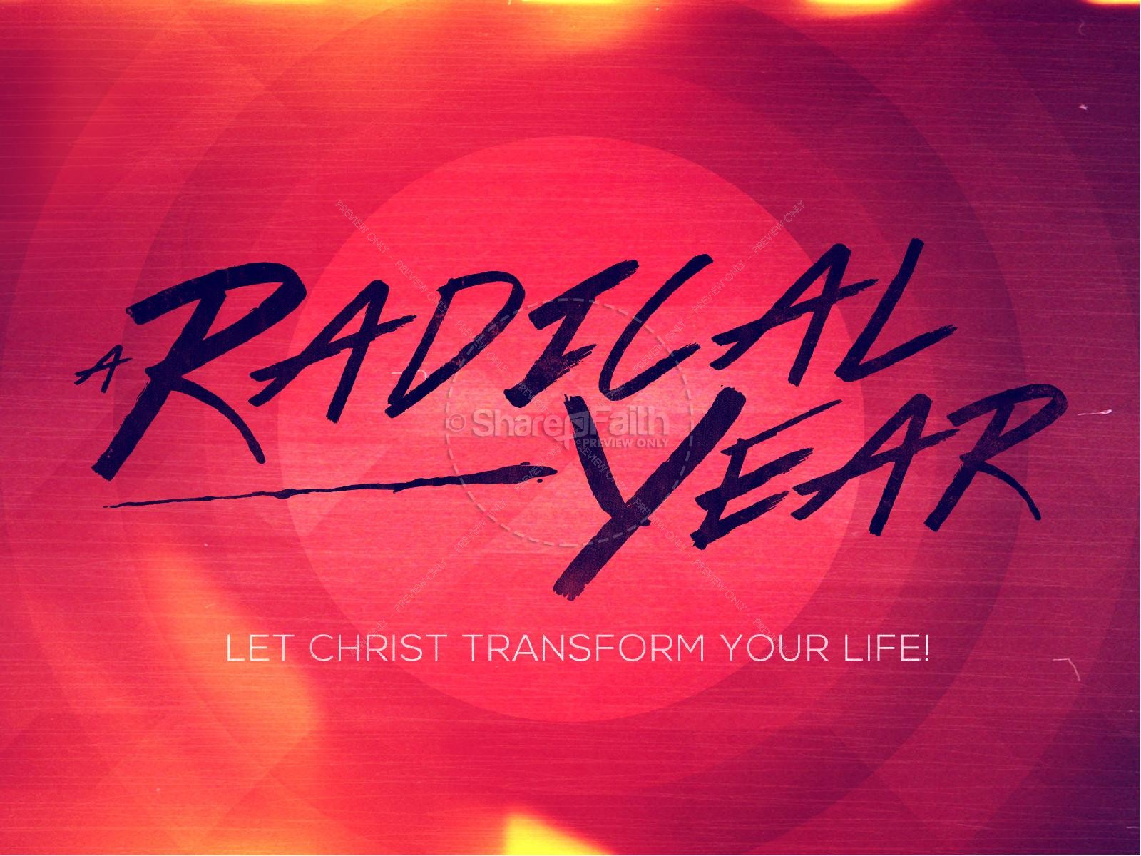 A Radical Year Christian PowerPoint