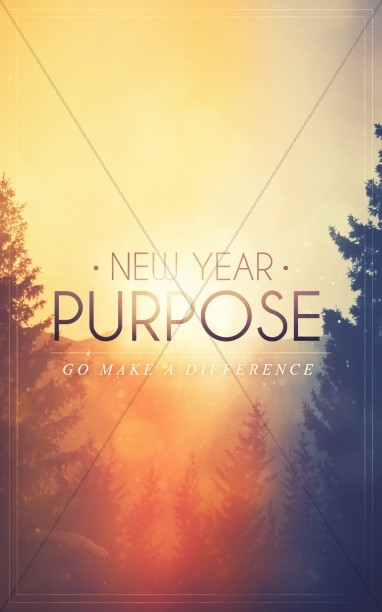 new year purpose church bulletin