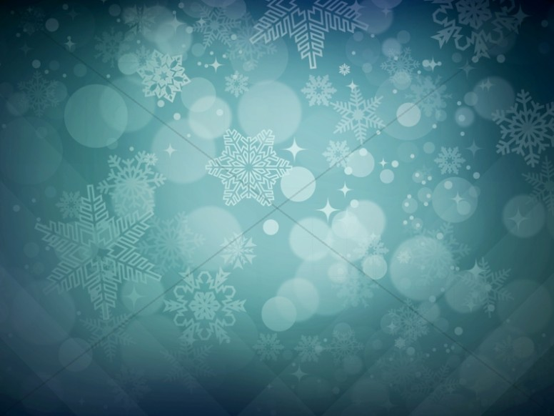 Winter Snowflakes Christmas Background