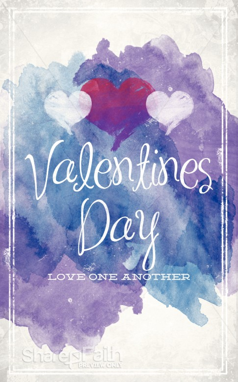 Love One Another Valentine S Day Church Bulletin Love