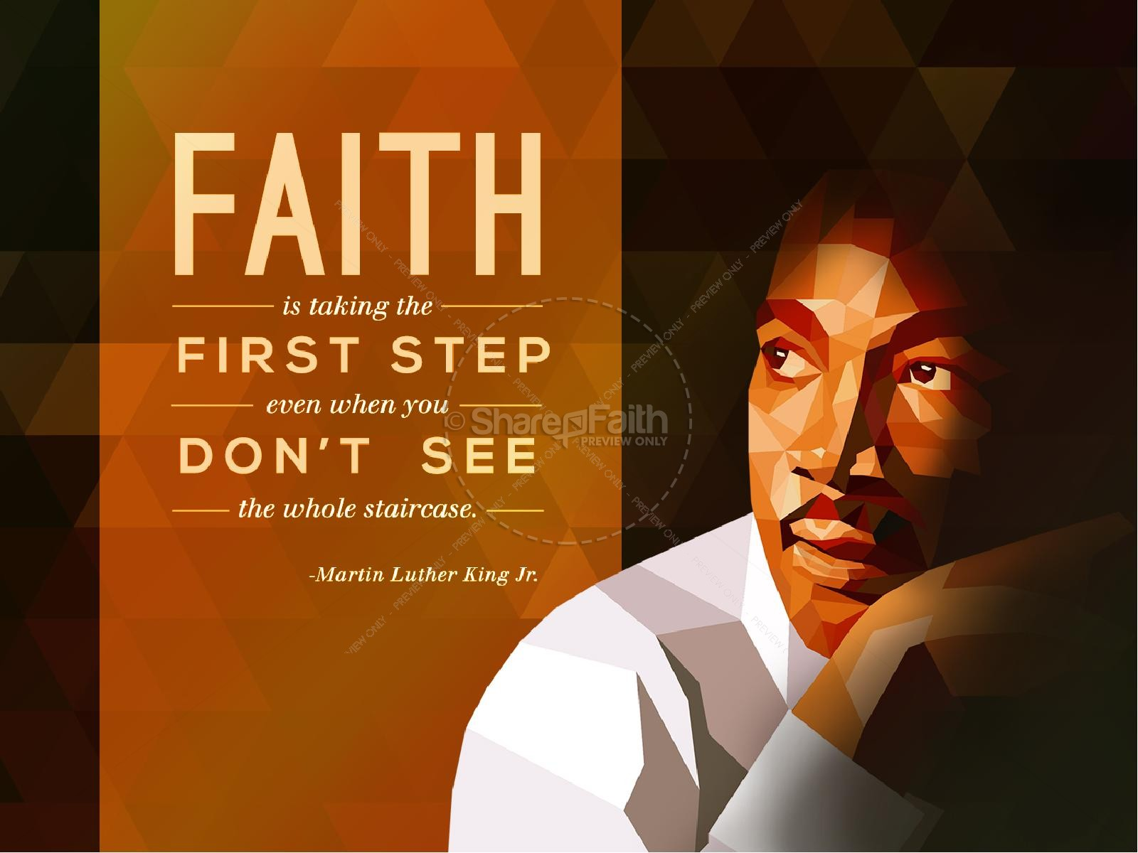 MLK on Faith Church PowerPoint