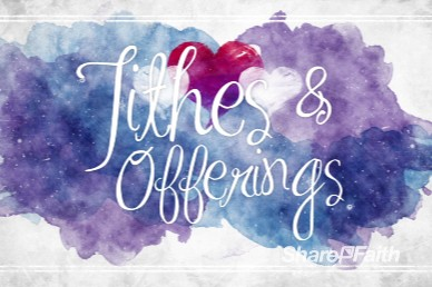 Love One Another Valentine's Day Church Tithes and Offerings Video