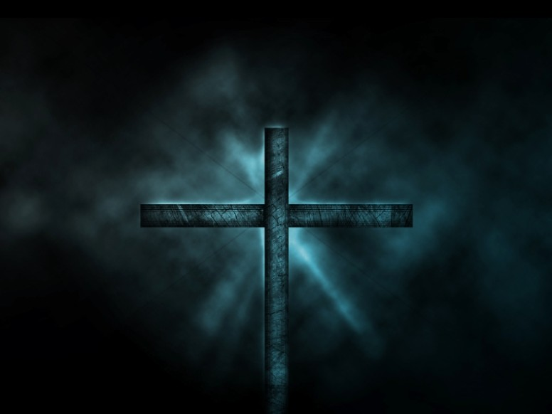 Cross Design Ministry Background Midnight