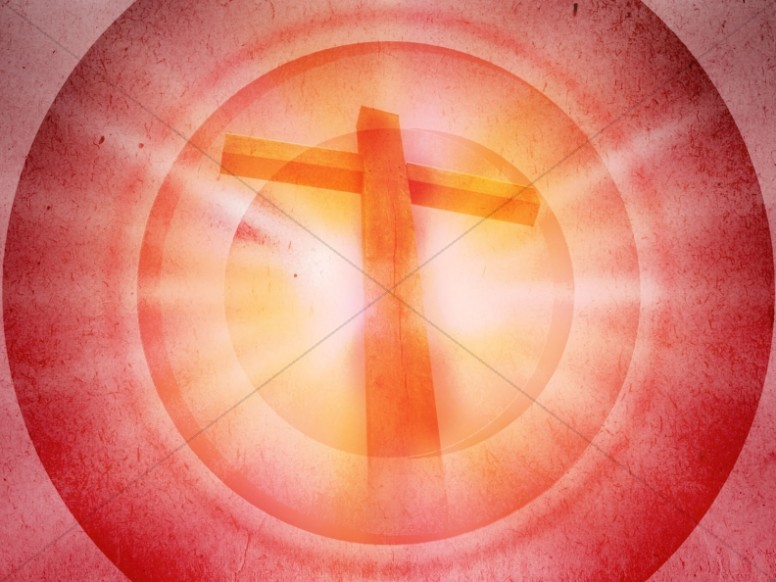 Cross Design Christian Background Pink Target