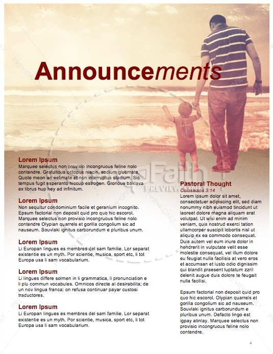 The Love of the Father Ministry Newsletter