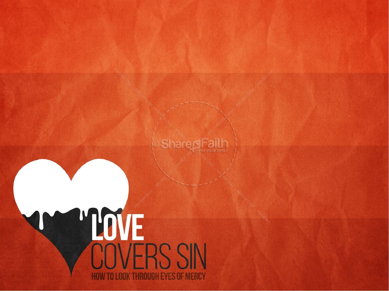 Love Covers Sin Christian Powerpoint