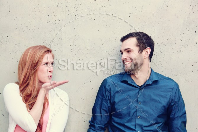 Valentines Day Couple Ministry Stock Photo Blow Kiss