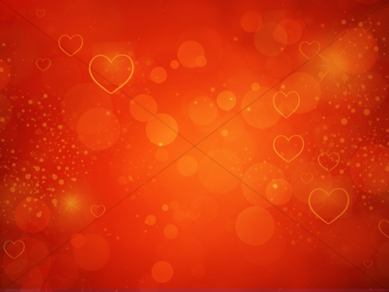 Hearts Love Valentines Day Worship Background