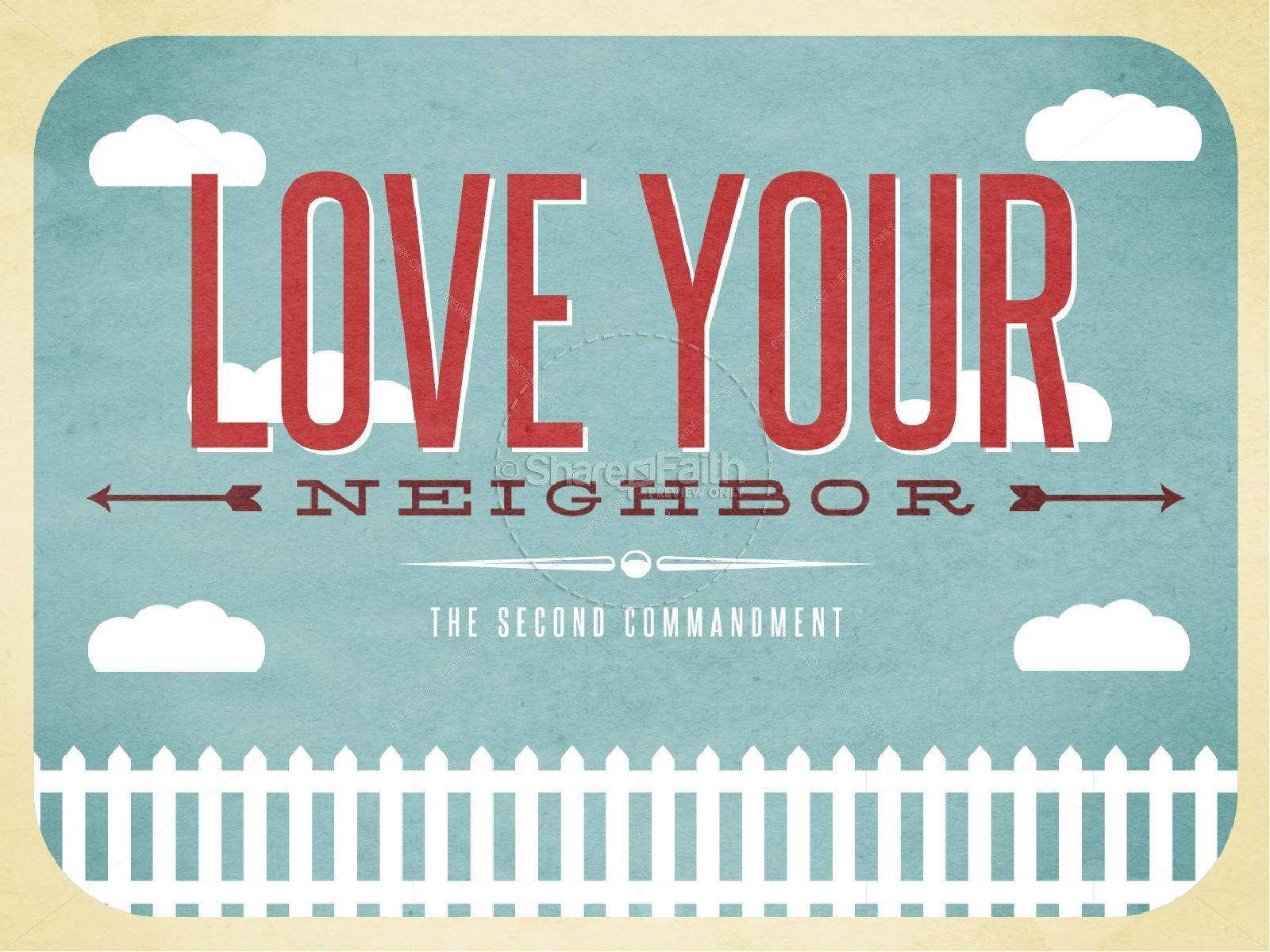 Love Your Neighbor Christian PowerPoint