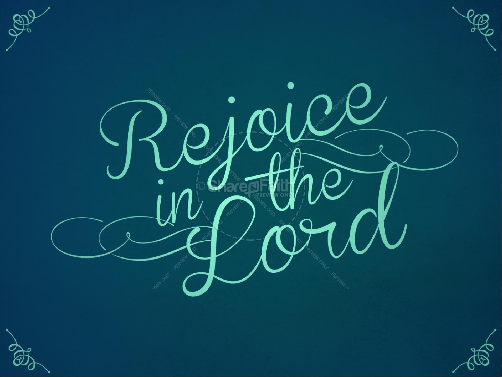 Rejoice In The Lord Ministry Powerpoint Powerpoint Sermons